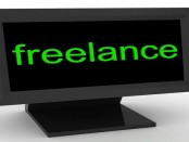 Freelance message on computer screen