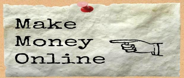 Make money online sign