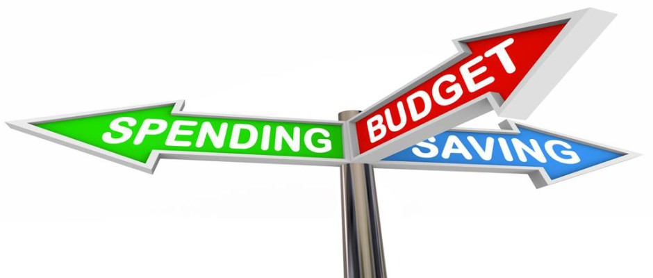 Spending/Budget/Savings signs