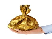 Golden bag of money