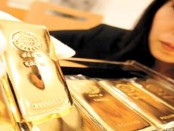 Lady with gold bars