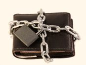 A locked wallet